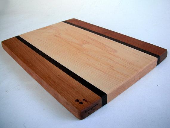 Reclaimed wood cutting board.