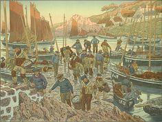 Henri Rivière  Le port