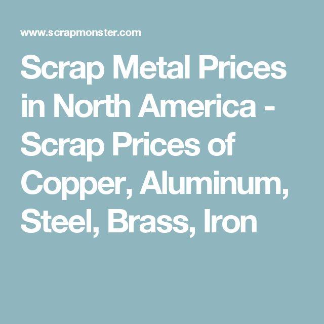 Scrap Metal Prices in North America - Scrap Prices of Copper, Aluminum, Steel, Brass, Iron