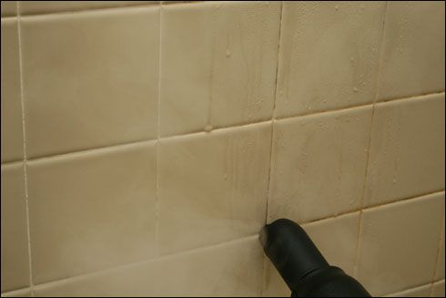 The Steam-It isn't your typical steam mop. Turn it upside down and use it to clean the shower grout!