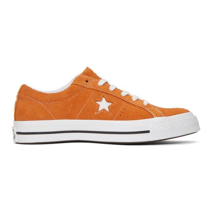 Converse One Star Orange Suede Trainers