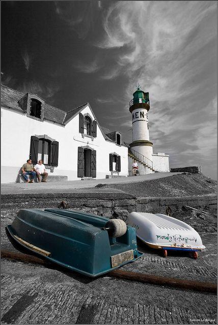 Men-Brial à l'île de Sein en presque noir et blanc | Finistère Bretagne