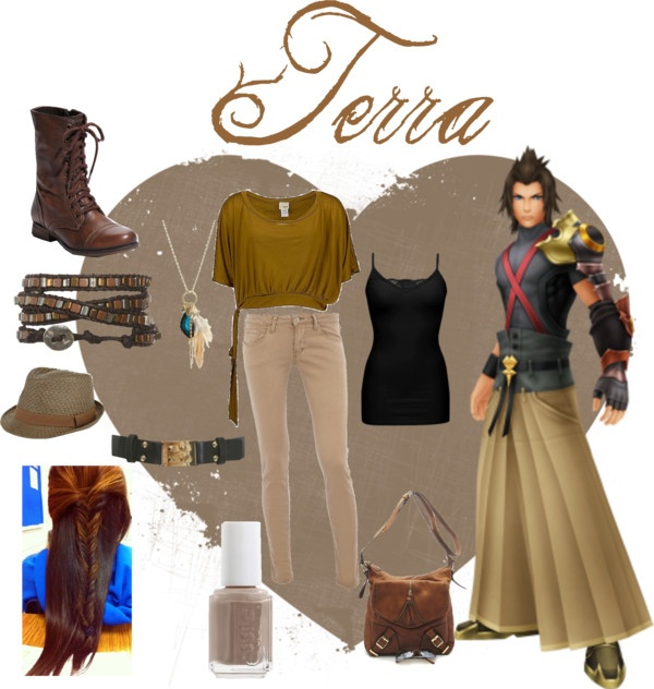 """Terra (kingdom hearts)"" by scarletwolf ❤ liked on Polyvore"