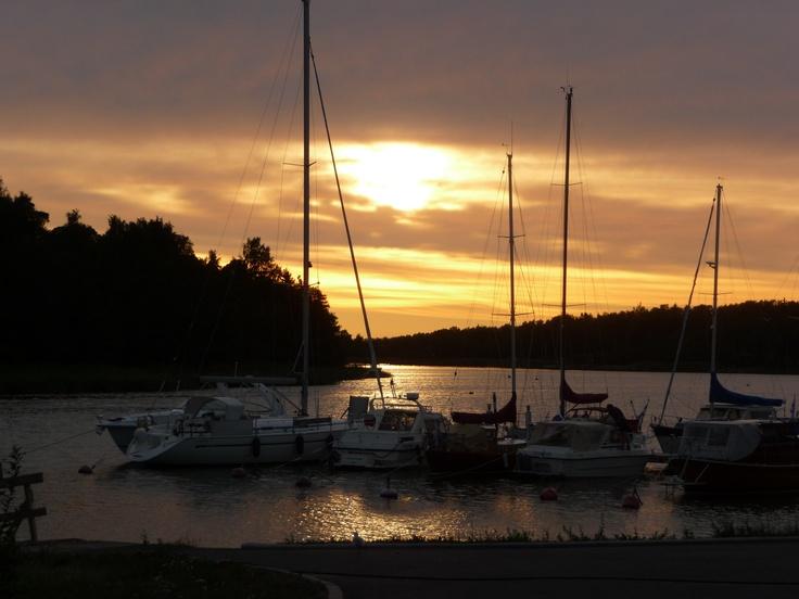 Rauma in Finland zonsondergang jachthaven