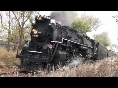 Nickel Plate Road 765 on an Owosso to Alma, Michigan run on October 15th, 2011. It was a very windy day, but that didn't stop the Railfans from getting the p...