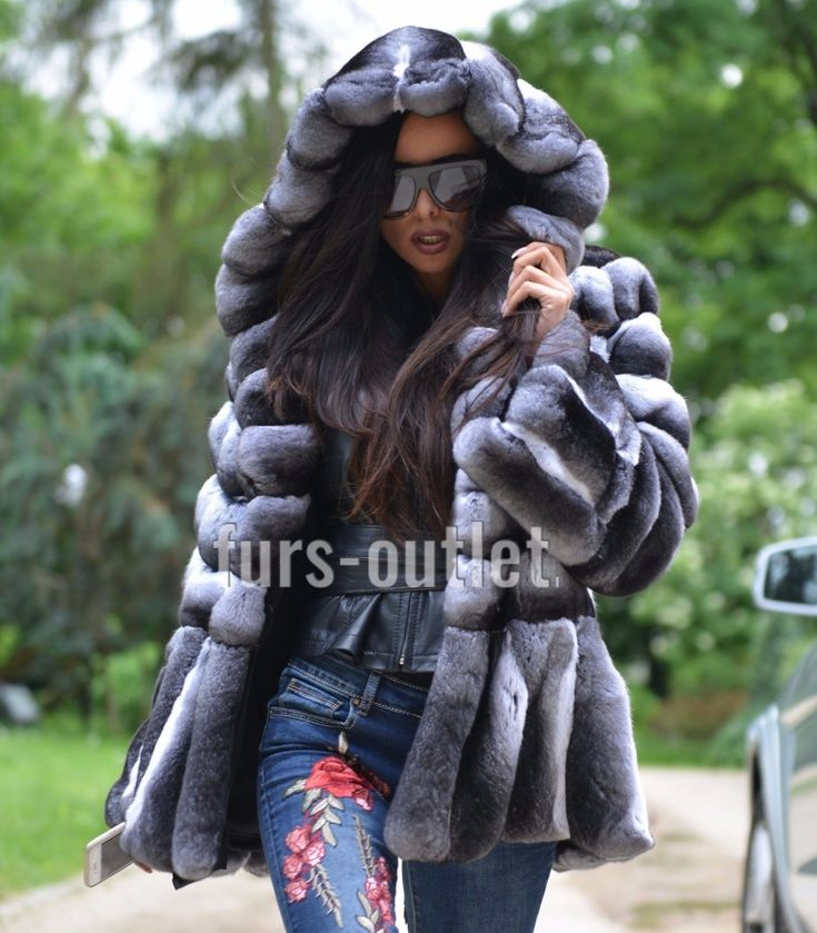 chinchilla furs - 2017/2018 lafuria real royal chinchilla fur coat