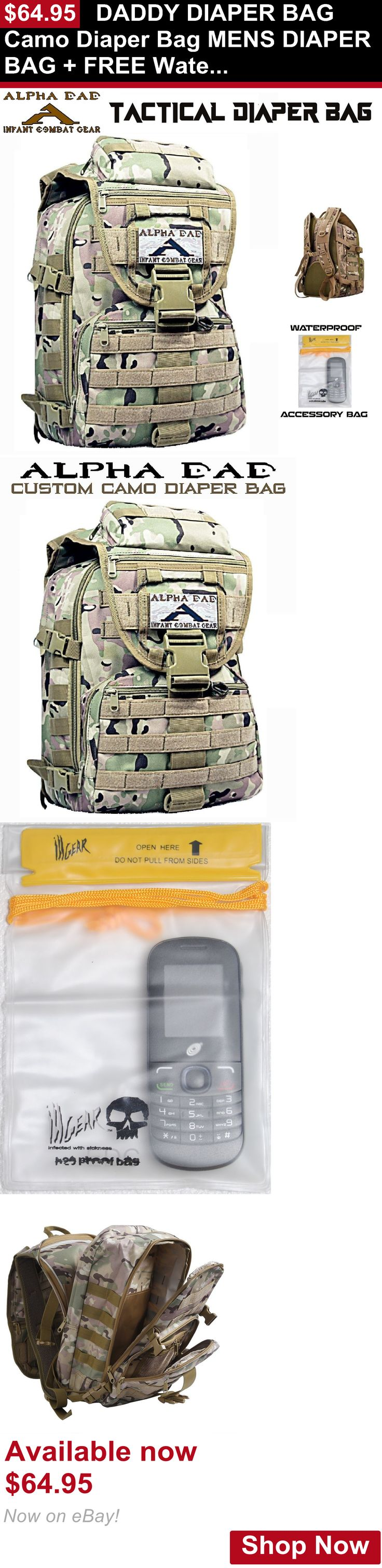 Other Baby: Daddy Diaper Bag Camo Diaper Bag Mens Diaper Bag + Free Waterproof Dry Goods Bag BUY IT NOW ONLY: $64.95
