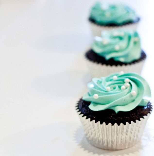 tiffany blue cupcakes. maybe for dessert? I know she likes white cake better then chocolate though.