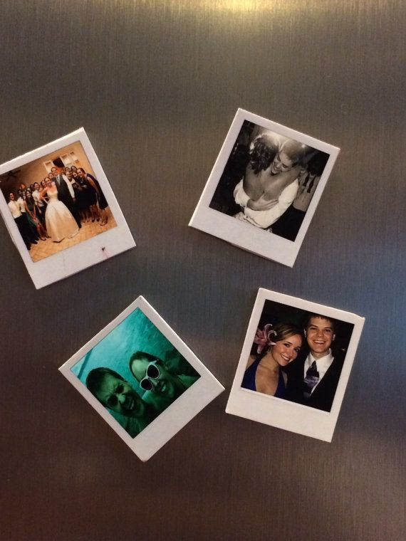Mini Polaroid Magnets of YOUR Photos---great idea for a gift and supaaaa cheap! $1.00