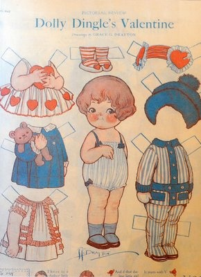 Dolly Dingle Paper Doll Valentine Just For Kiddos