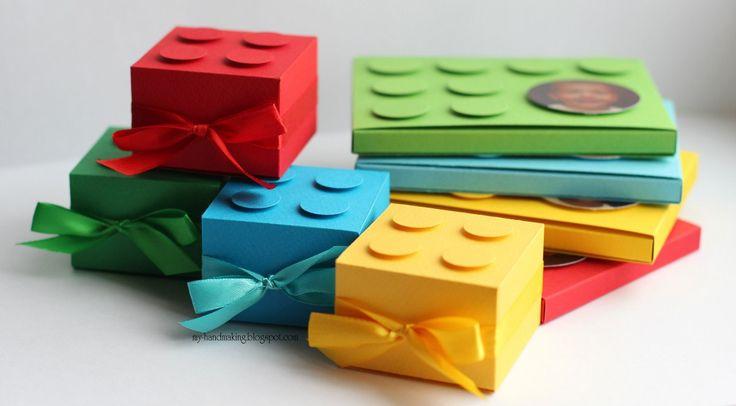 Приглашения и бонбоньерки на день рождения в стиле LEGO