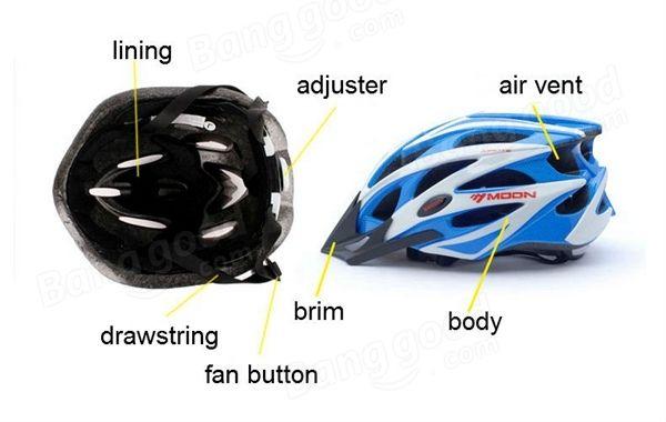 Moon Bicycle Helmet Cycling Unibody Casing Ultralight Road Bike MTB