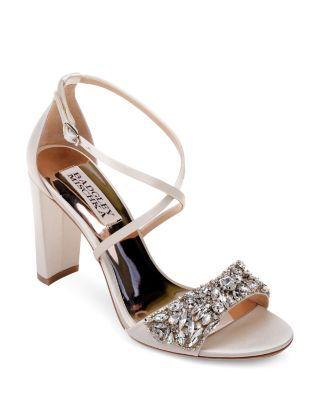 e368b7fb9d Badgley Mischka Women's Hooper Embellished Satin High Block Heel Sandals    Bloomingdales's