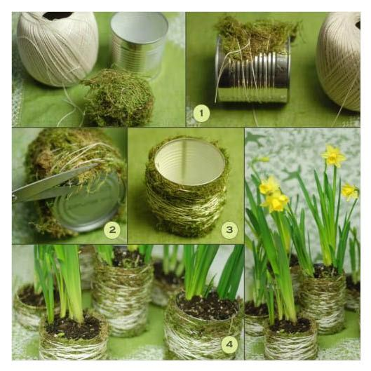 DIY Moss Wedding Centerpieces