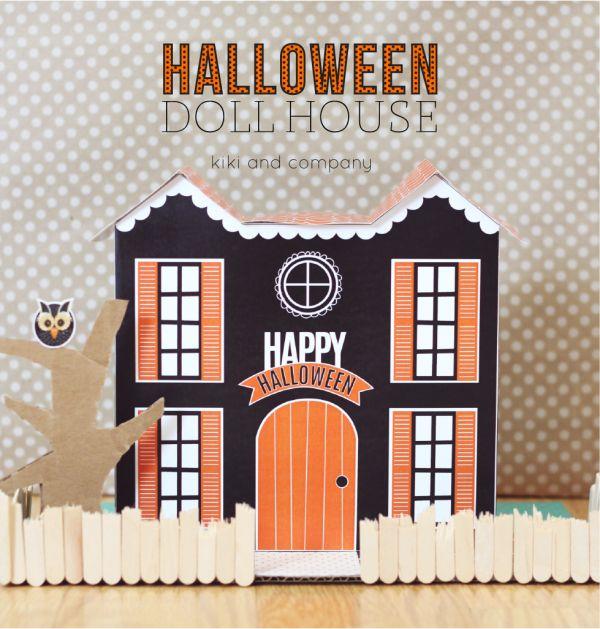 imprimer vite cette jolie maison d'Halloween pour vos ptits monstres !!!