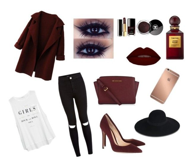 """""""REDD♥"""" by timeadivekyova on Polyvore featuring MANGO, Gianvito Rossi, Tom Ford, Mura and Maison Michel"""