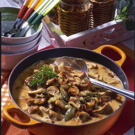 Schnitzel-Pfeffer-Suppe à la Stroganoff Rezept