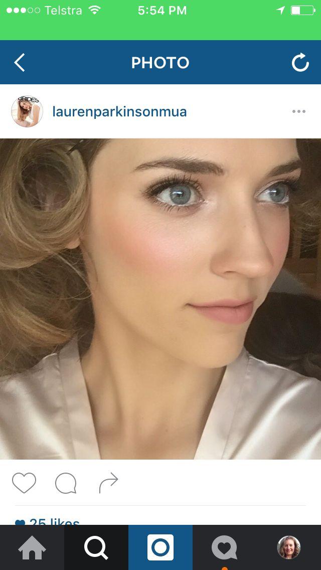 Natural, glowing wedding makeup by Lauren Parkinson MUA