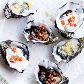 Oysters with a trio of toppings