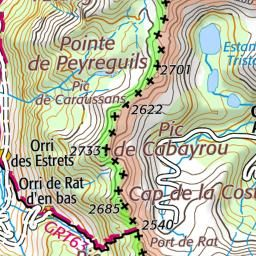 Etang des Peyrisses Haut - Naguille - Géoportail : Carte IGN et vue Satellite