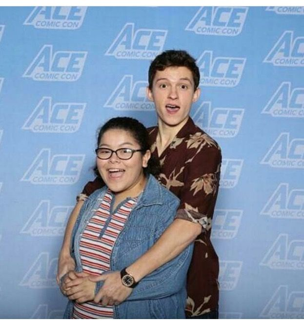 I have an angel in person ACE Comic Con Tom Holland
