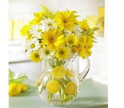 ramos de flores amarillas para decorar