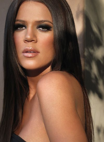 How To Get Khloe Kardashian's Makeup Look For Maxim Hot 100 Party: Khloe Kardashian, Hair Colors, Khloekardashian, Eye Makeup, Dark Hair, Kim Kardashian, Celebrity Fashion, Makeup Looks, Smokey Eye