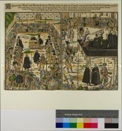 Hinrichtung des Grafen Ferdinand zu Hardegg in Wien 1595 (Flugblatt)