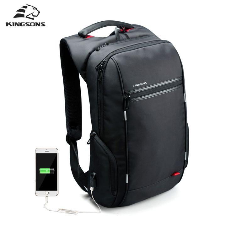 Kingsons Antitheft <b>Notebook Backpack</b> 15.6, 17.3 inch Waterproof ...