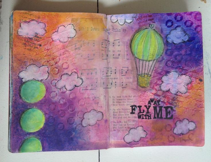 Art Journal # 11 Fly away with me