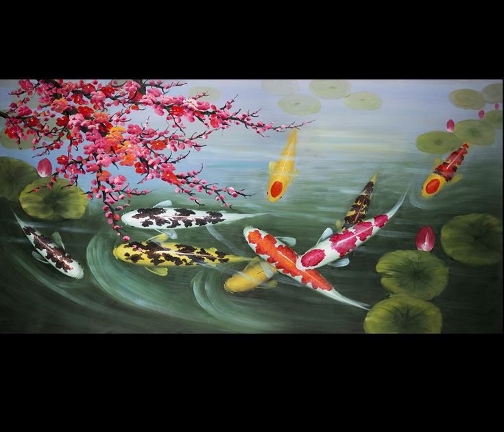 16 best koi fish paintings images on pinterest fish for Koi canvas print