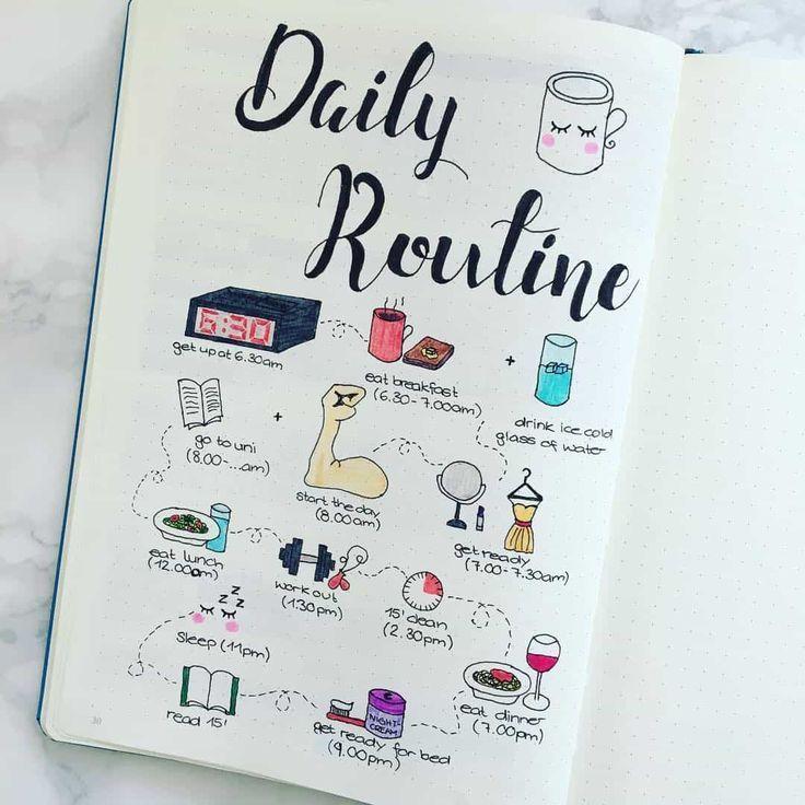 17 Routine-Spreads in Ihrem Bullet-Journal bringen mehr Struktur