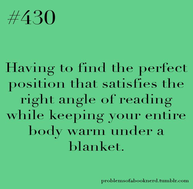 Seriously, this is always a struggle.