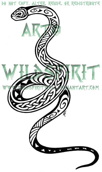 Maori Celtic Snake Tattoo by *WildSpiritWolf on deviantART