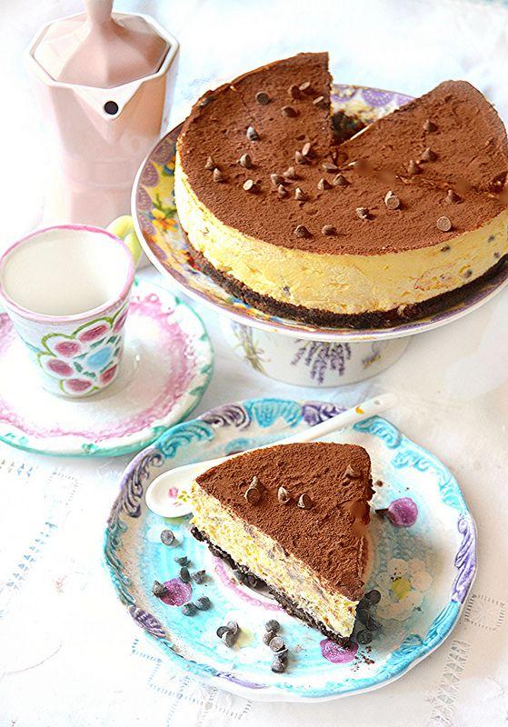 Dolci a go go: Il primo amore non si scorda mai:cheesecake al caffè!