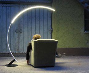 ooooh....  Modern floor lamps with a crescent moon look. homefurnituresandiego.com #floor #lamp #modern