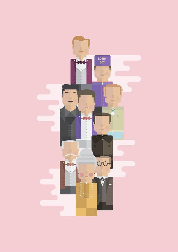 The Grand Budapest Hotel: Character Print by GeorgeTownley on Etsy