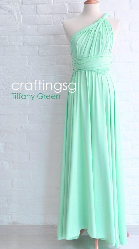 Demoiselle d'honneur robe Infinity Seafoam Green par thepeppystudio