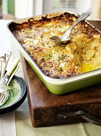 Manu Feildel's Potato and Parsnip Gratin (Potato Dauphinois Gratin) Cooked in a Chasseur - Stylish Cast Iron Rectangular Baker