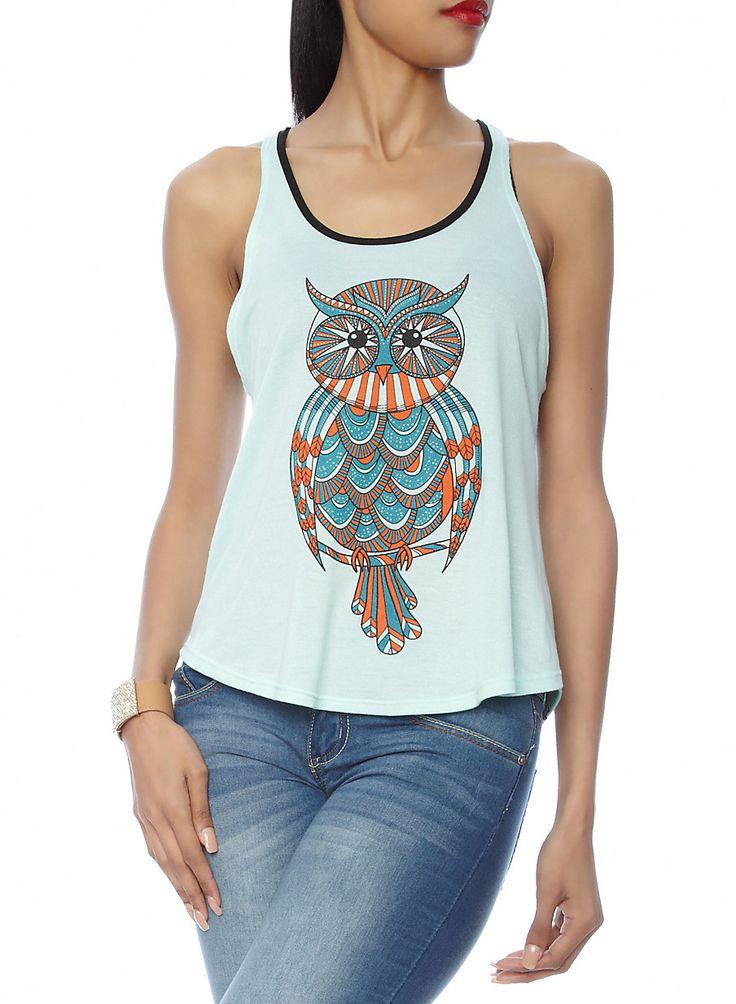 Rainbow Shops Owl Graphic Tank Top $10.97