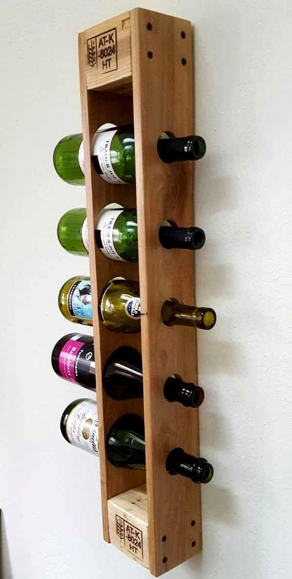 Ikea Porte Bouteille Ideas Vin Palette Etageres A Bouteilles De Vin Casiers Bouteilles Rustiques