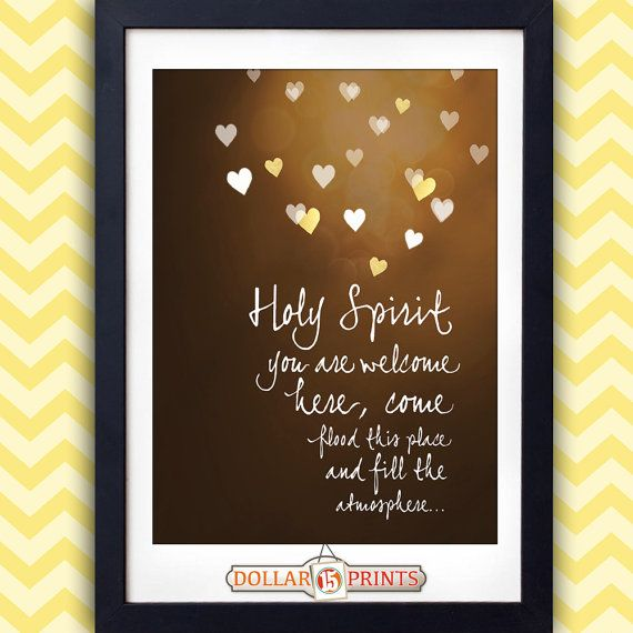 """""""Holy Spirit You Are Welcome Here"""" Christian Wall by 15DollarPrints, $10.00 #ChristianArt #Scripture #WallArt"""