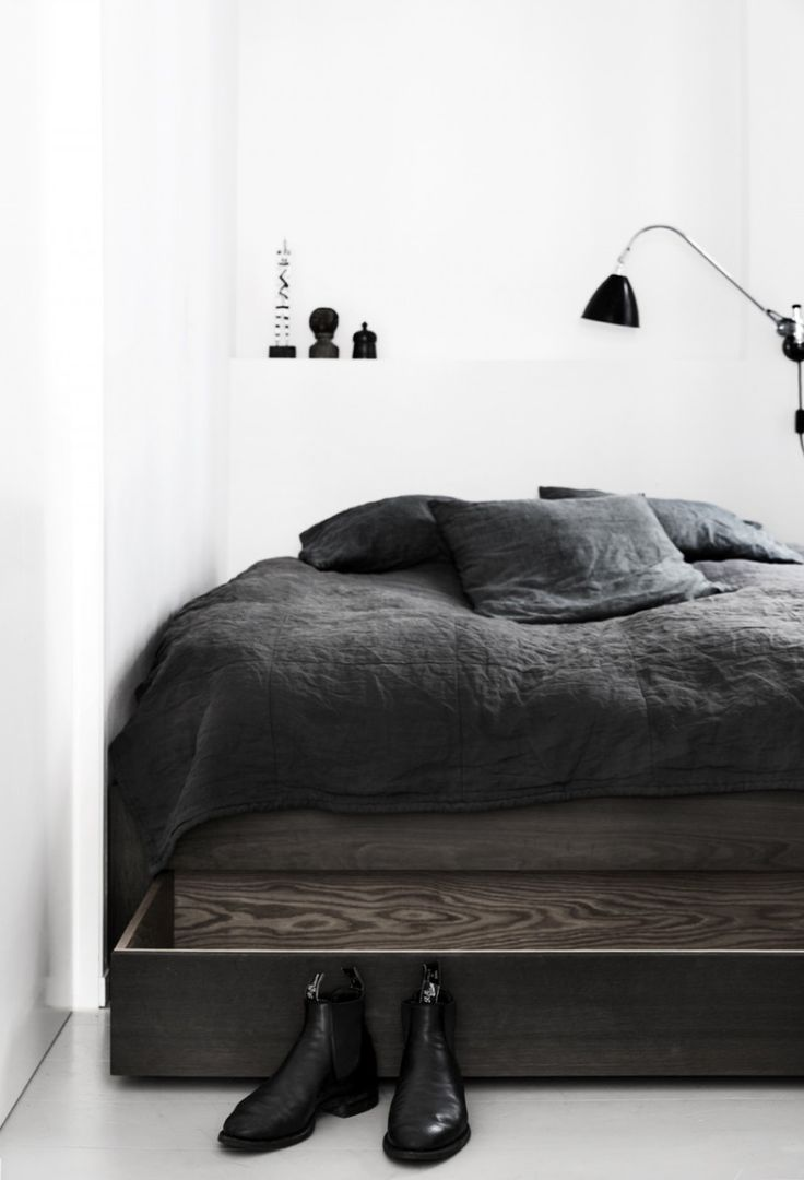 Black and white bed sheets designs - Apartment By Kbh