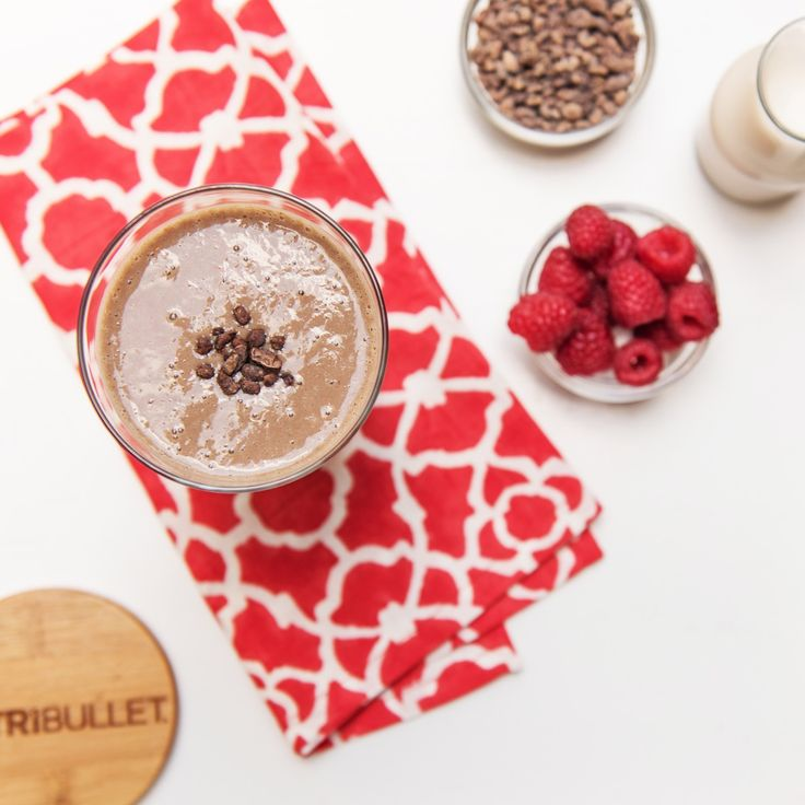 Give your body and mood a boost after your workout with this protein-packed chocolate berry smoothie!