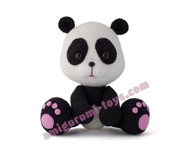 Схема вязания панды амигуруми от Юлии Осадчей.