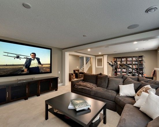 Contemporary Basement Design, Pictures, Remodel, Decor and Ideas - page 7