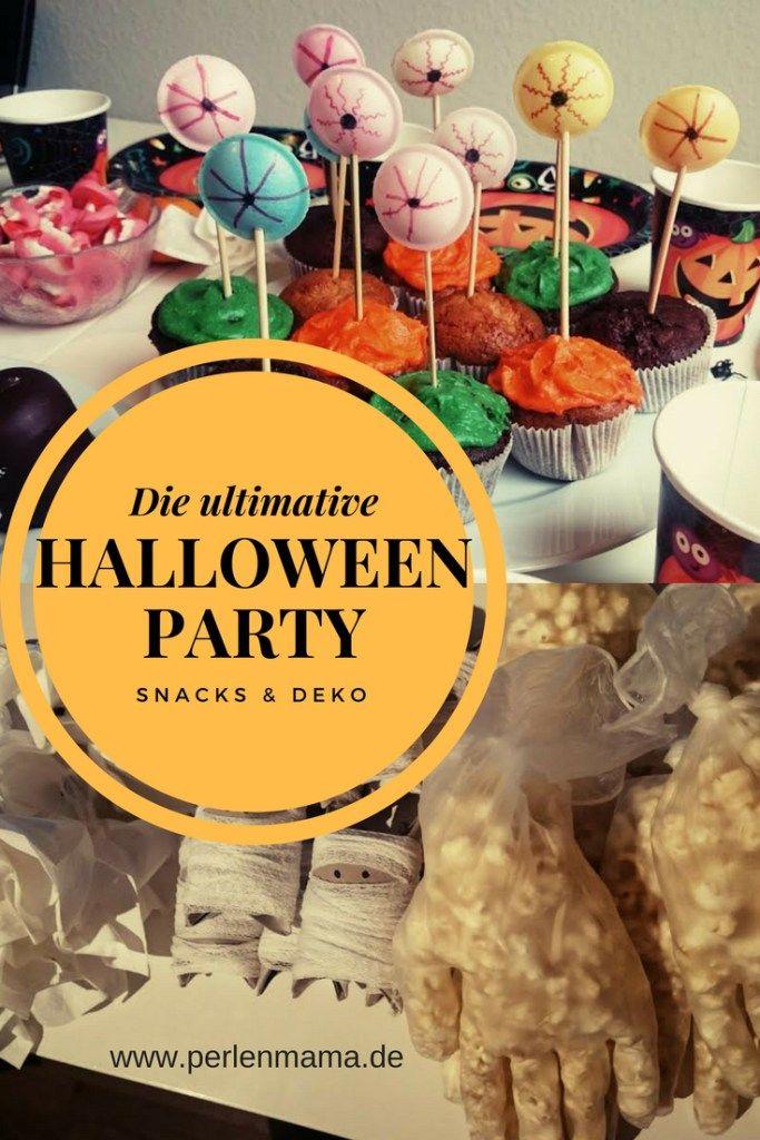 Tipps & Tricks für Snacks und Deko für eine tolle Halloween Party für Kinder.