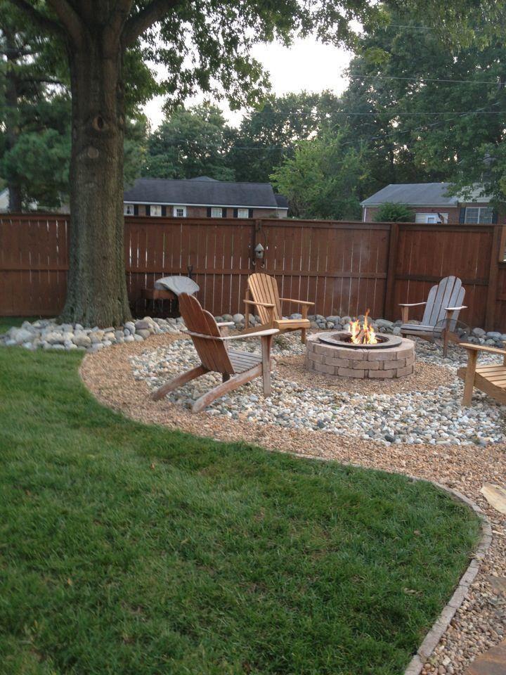 Pin By Nathan Markwell On Diy Backyard Landscaping Designs Backyard Patio Fire Pit Backyard