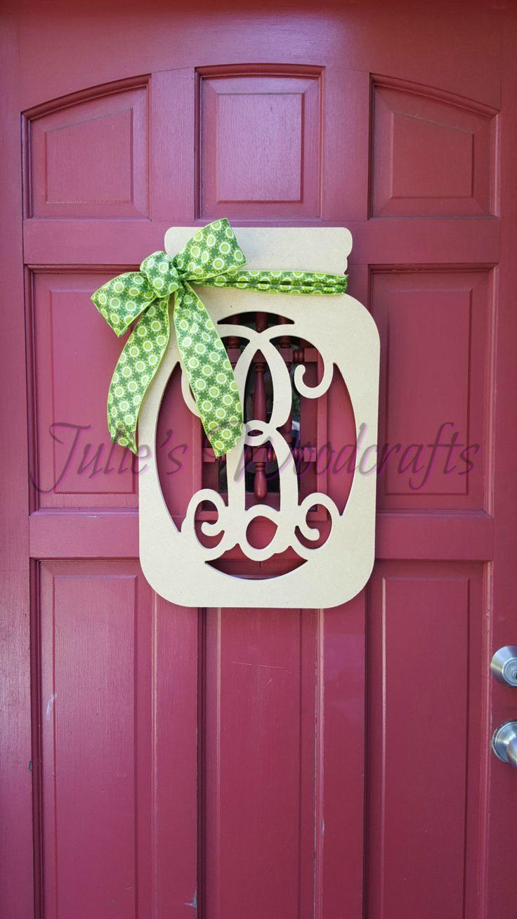 Best 25+ Initial door hanger ideas on Pinterest | Initial ...