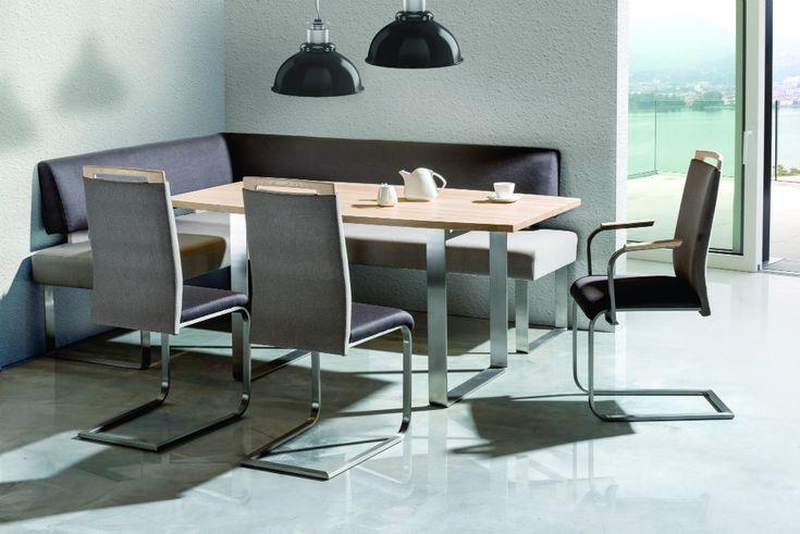 Grey color pallets in dining room. #KloseFurniture #diningroom #moderninteriordesign